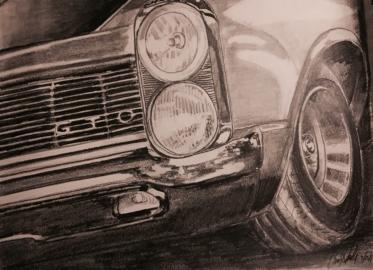 1965 GTO-original graphite: 12X9- $85