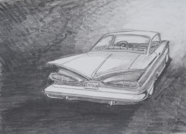 59 Impala-original graphite 12X9- $85