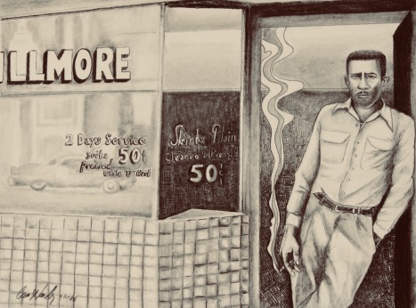 1950s Shop Owner- charcoal and graphite: $195