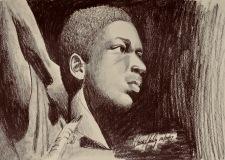 John Coltrane-original: 9X12-graphite-$85