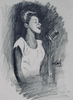 Sarah Vaughn- original: 12X9 graphite: $85