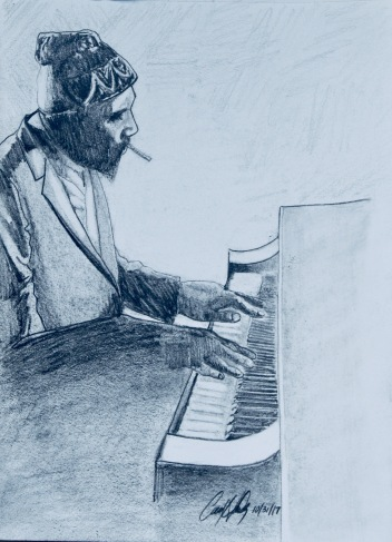 Thelonius Monk- original: 12X9: graphite-$85