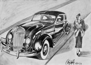 Chrysler Airflow-original graphite 12X9: $85