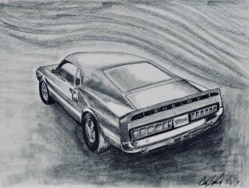 1969 Mustang-original graphite 12X9: $85